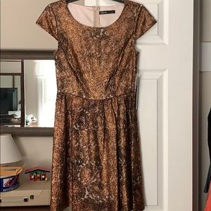 Kensie sparkly copper lace dress NWT